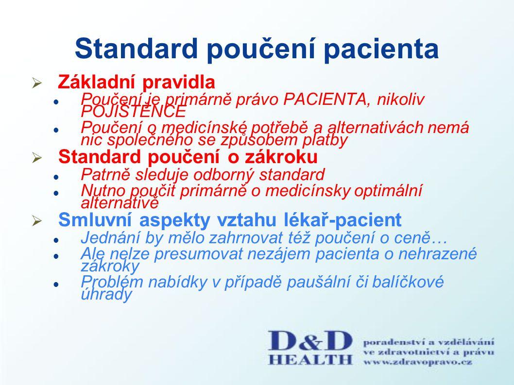 Standard poučení pacienta