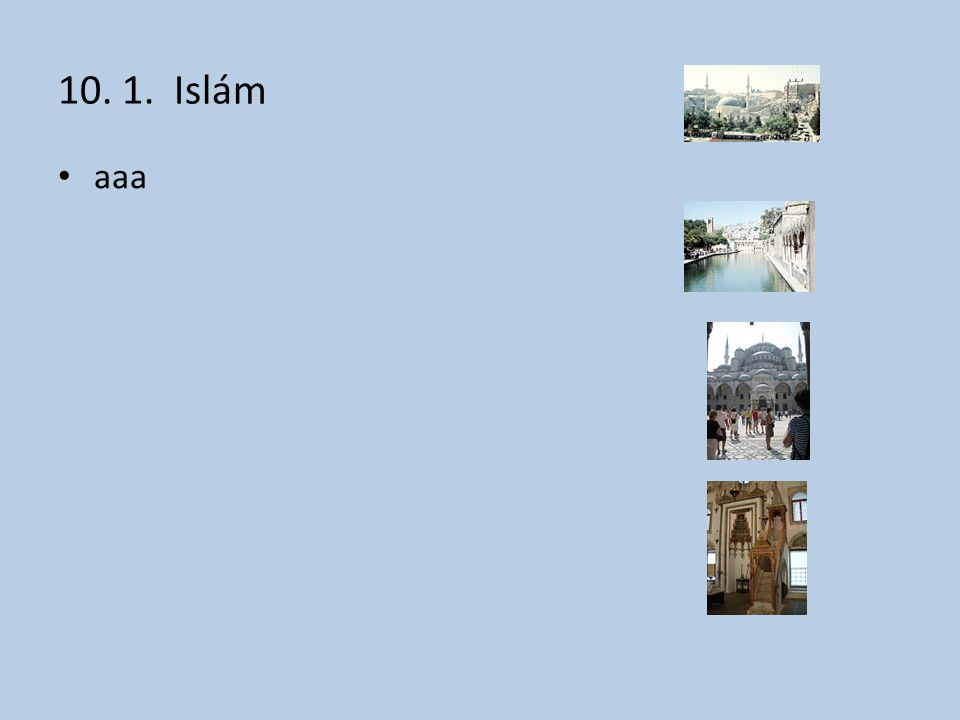 10. 1. Islám aaa