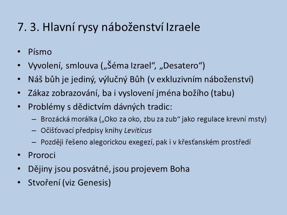 7. 3. Hlavní rysy náboženství Izraele