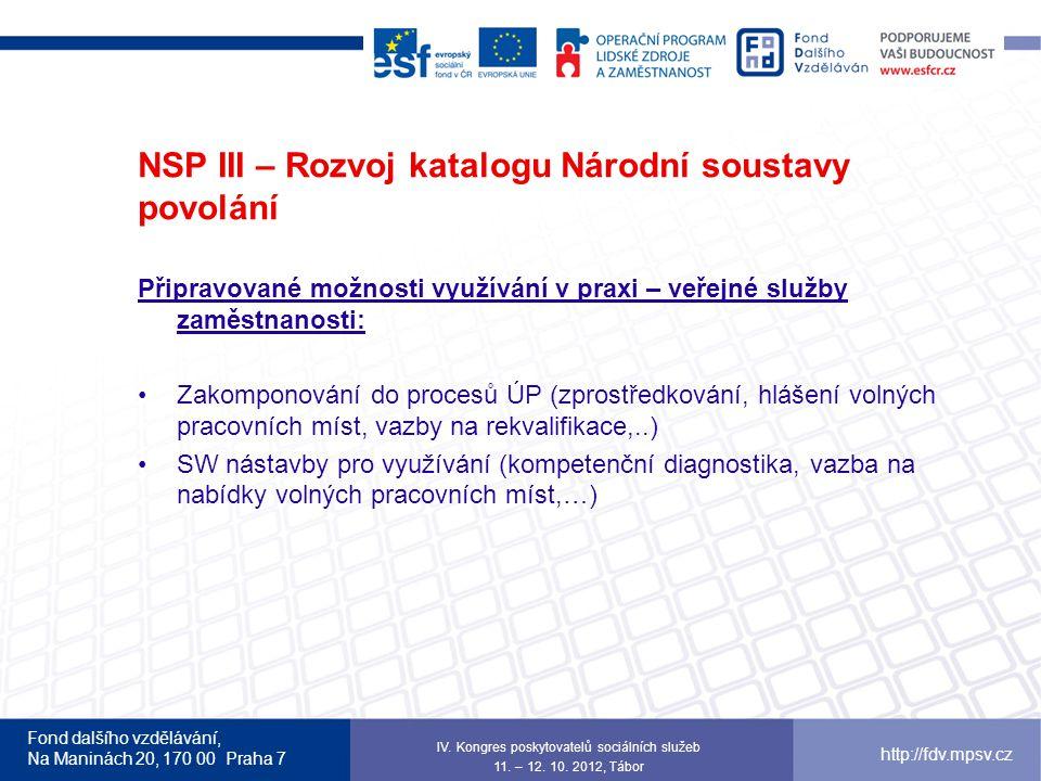 NSP III – Rozvoj katalogu Národní soustavy povolání