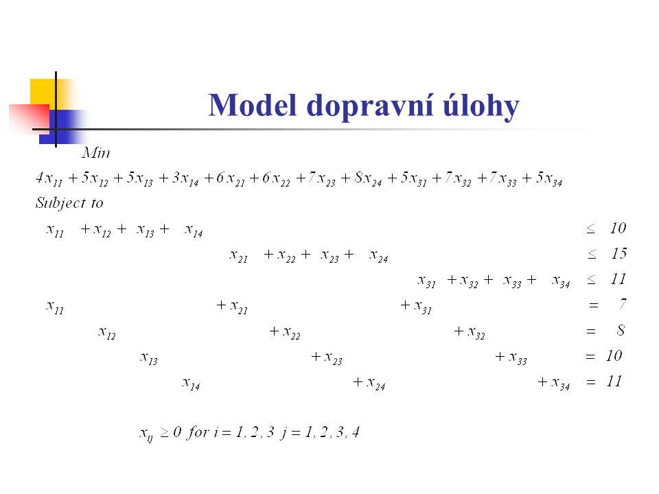 Model dopravní úlohy