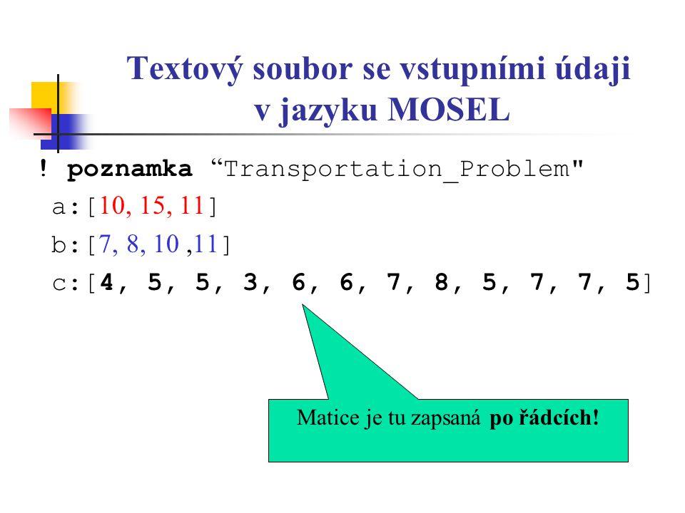 Textový soubor se vstupními údaji v jazyku MOSEL