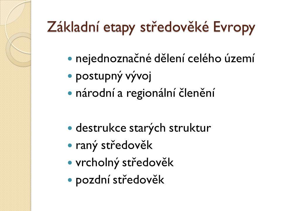 Základní etapy středověké Evropy