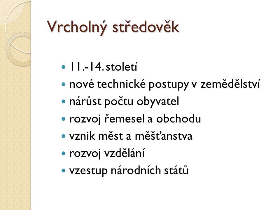 Vrcholný středověk 11.-14. století