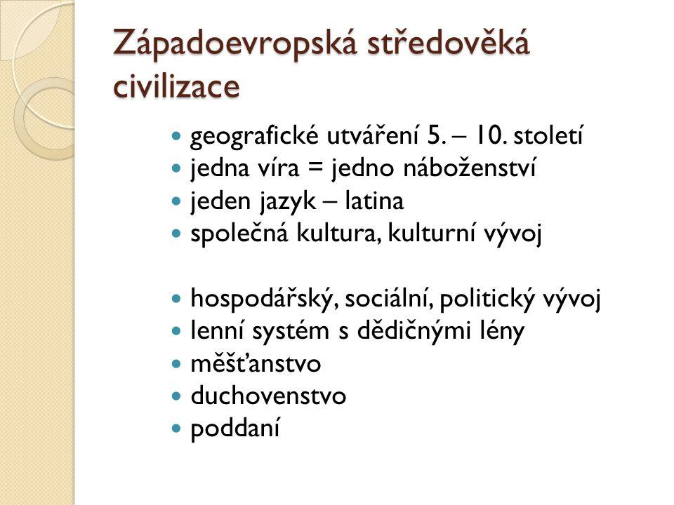 Západoevropská středověká civilizace