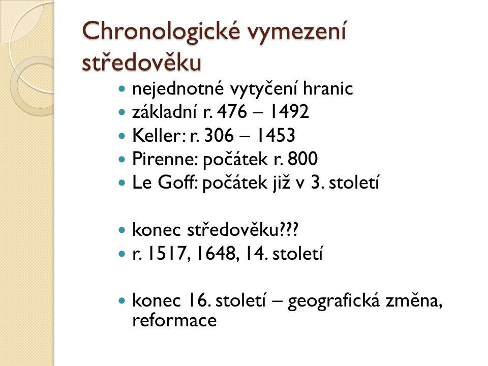 Chronologické vymezení středověku