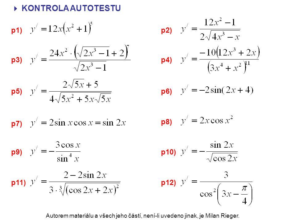  KONTROLA AUTOTESTU p1) p2) p3) p4) p5) p6) p8) p7) p9) p10) p11)