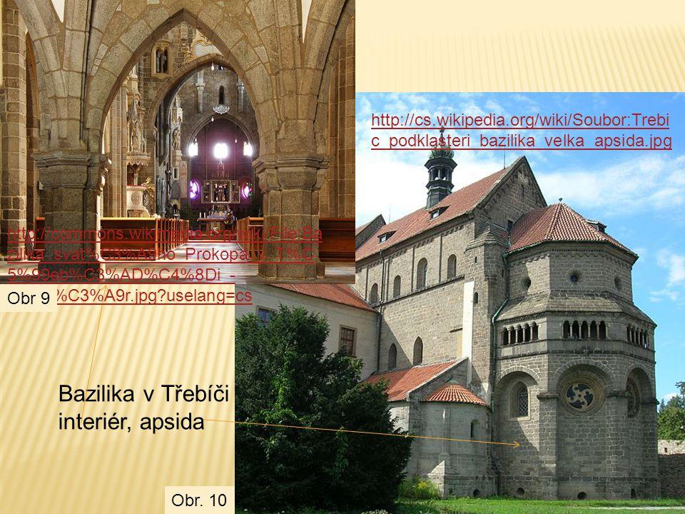 Bazilika v Třebíči interiér, apsida