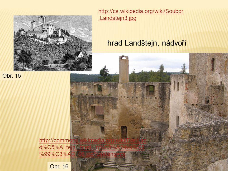 hrad Landštejn, nádvoří
