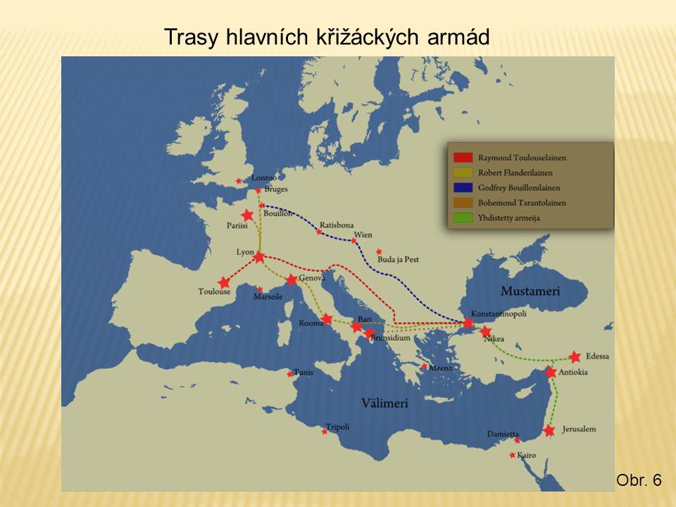 Trasy hlavních křižáckých armád