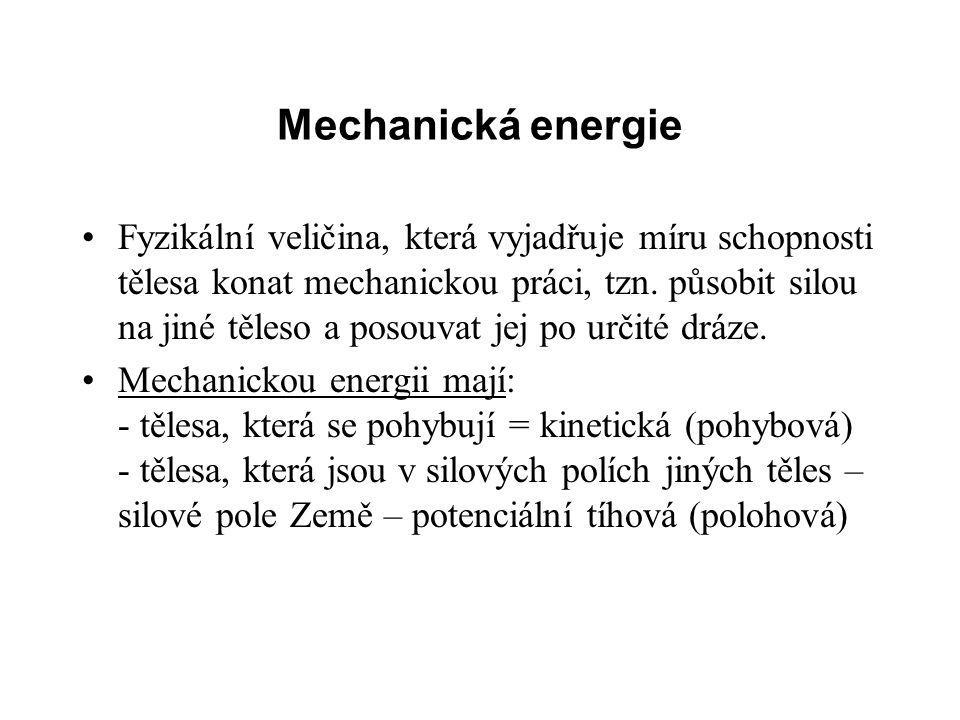 Mechanická energie