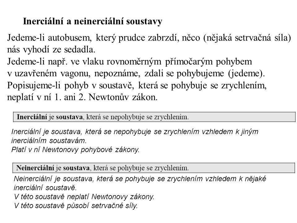 Inerciální a neinerciální soustavy
