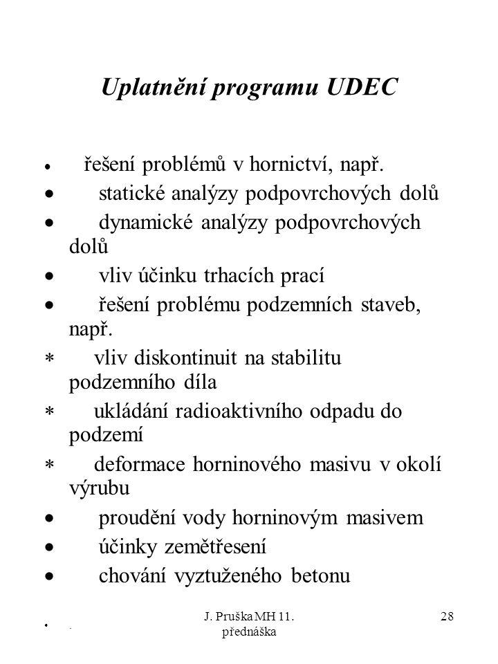 Uplatnění programu UDEC