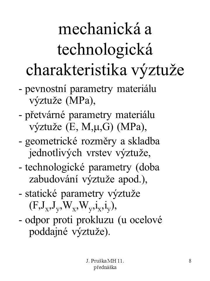 mechanická a technologická charakteristika výztuže