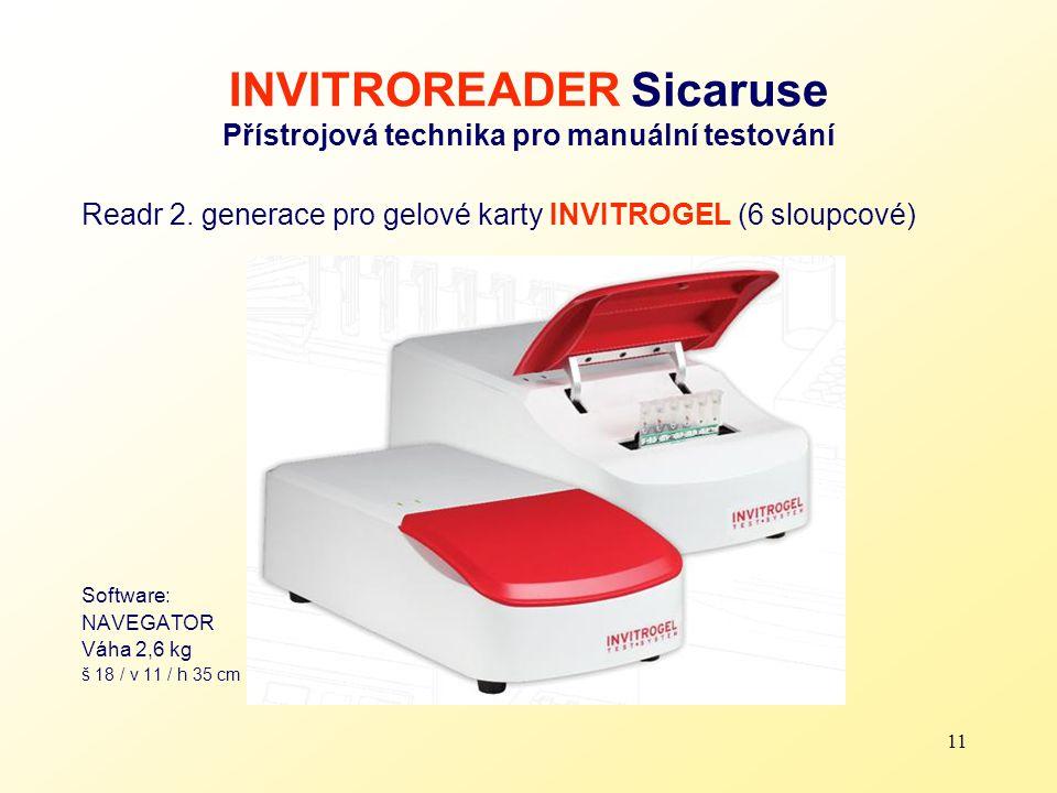 INVITROREADER Sicaruse Přístrojová technika pro manuální testování