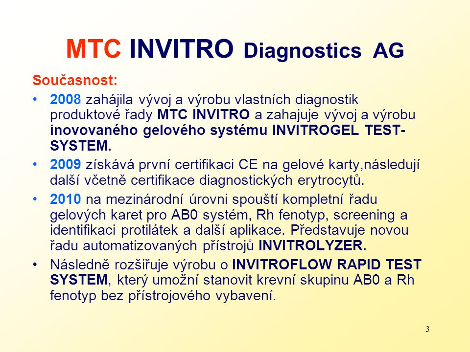 MTC INVITRO Diagnostics AG