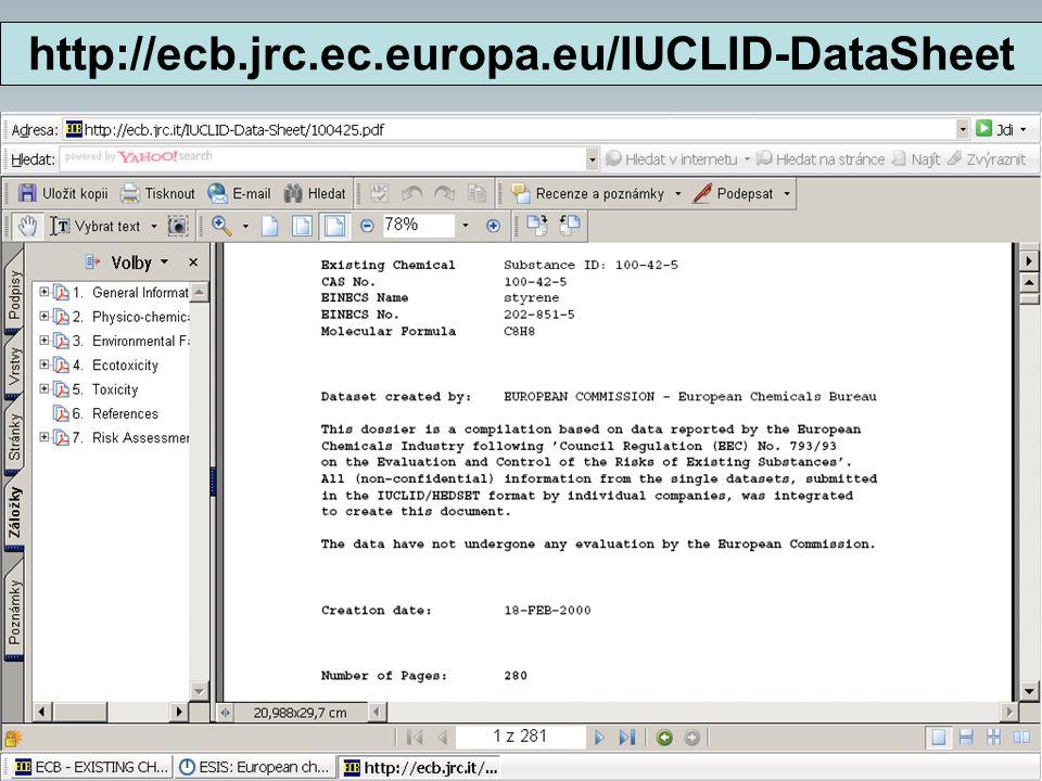 http://ecb.jrc.ec.europa.eu/IUCLID-DataSheet 5. 11. 2008 HORECA