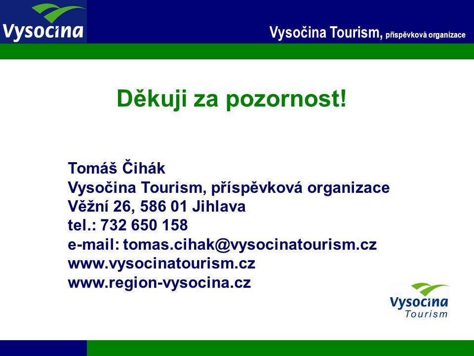 Děkuji za pozornost! Vysočina Tourism, příspěvková organizace
