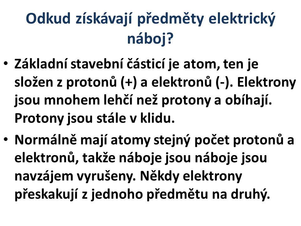 Odkud získávají předměty elektrický náboj