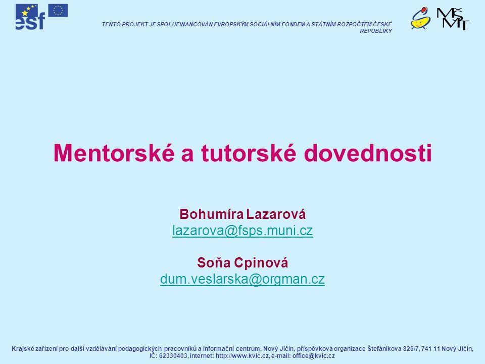 Mentorské a tutorské dovednosti