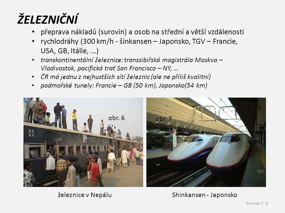 ŽELEZNIČNÍ přeprava nákladů (surovin) a osob na střední a větší vzdálenosti.