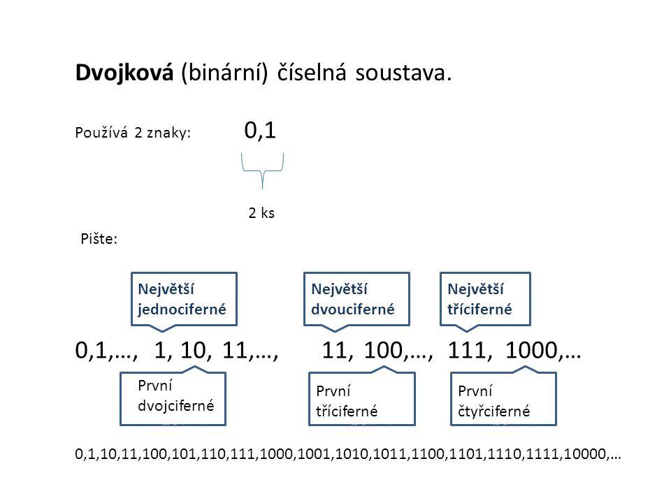 Dvojková (binární) číselná soustava.