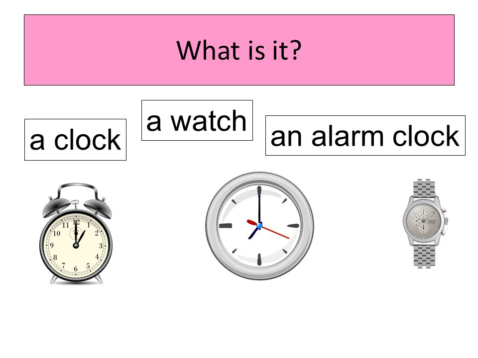 What is it a watch an alarm clock a clock
