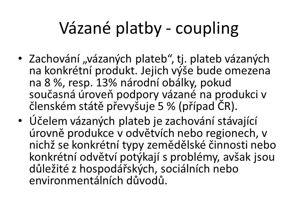Vázané platby - coupling