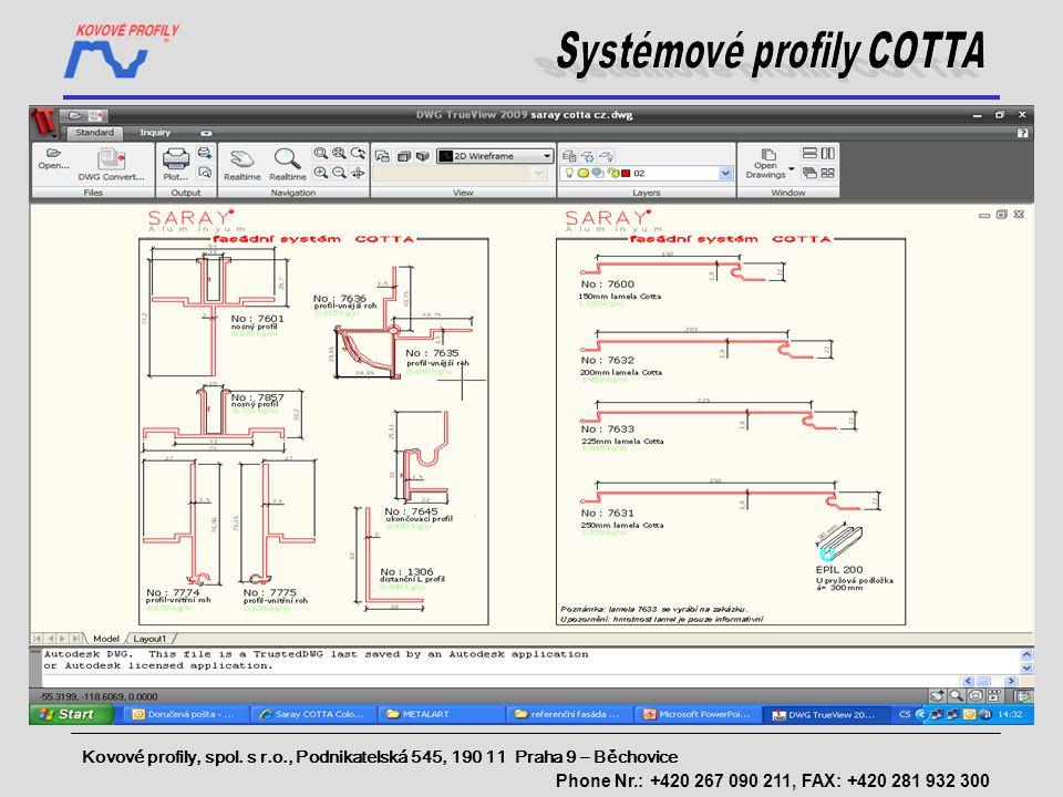 Systémové profily COTTA