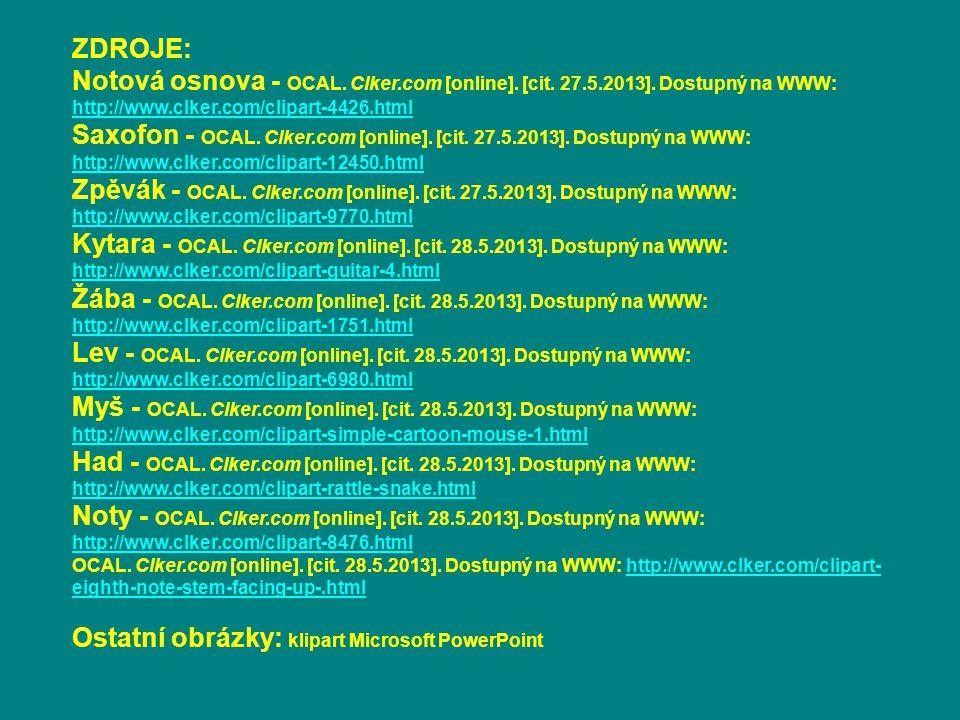 Ostatní obrázky: klipart Microsoft PowerPoint