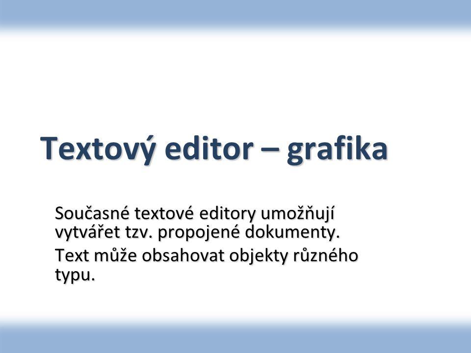 Textový editor – grafika