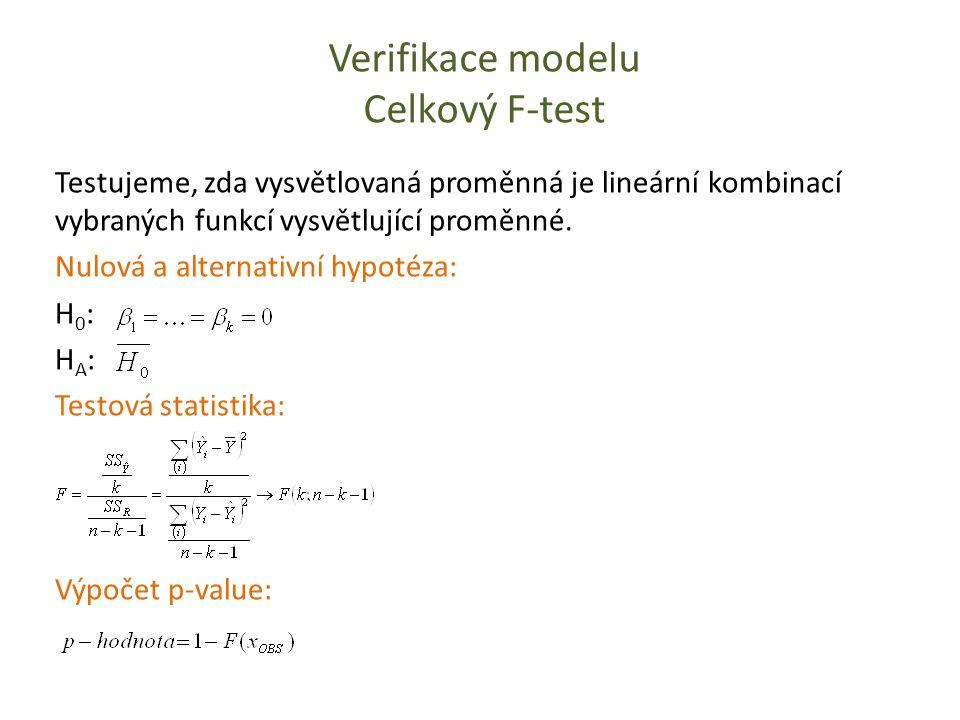 Verifikace modelu Celkový F-test