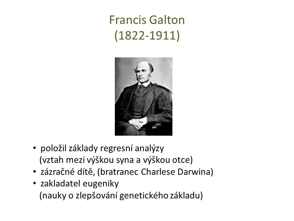 Francis Galton (1822-1911) položil základy regresní analýzy