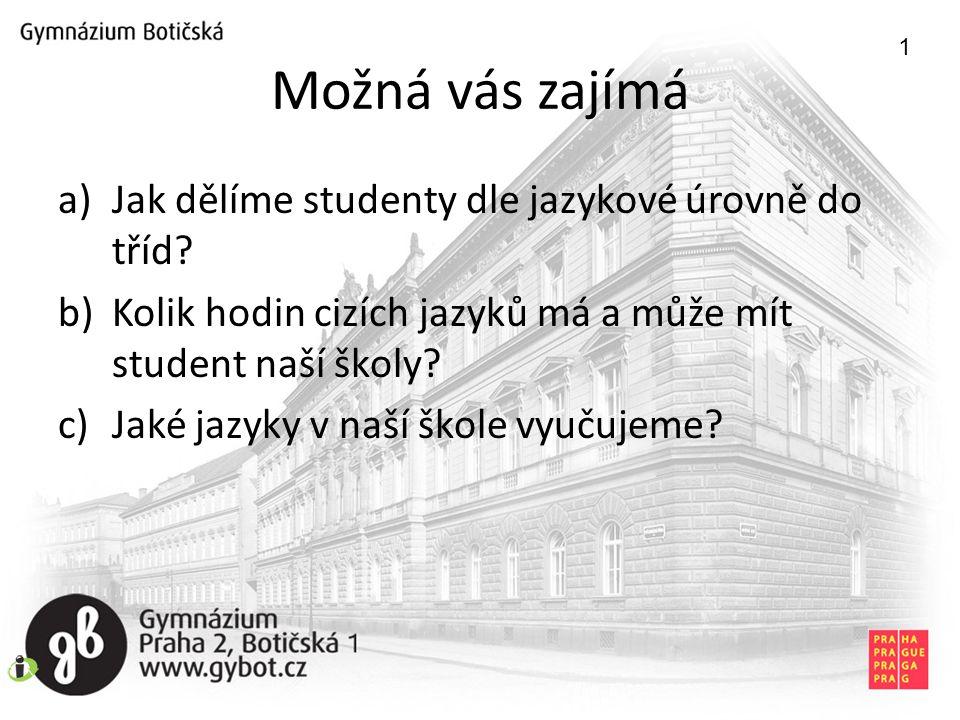 Možná vás zajímá Jak dělíme studenty dle jazykové úrovně do tříd