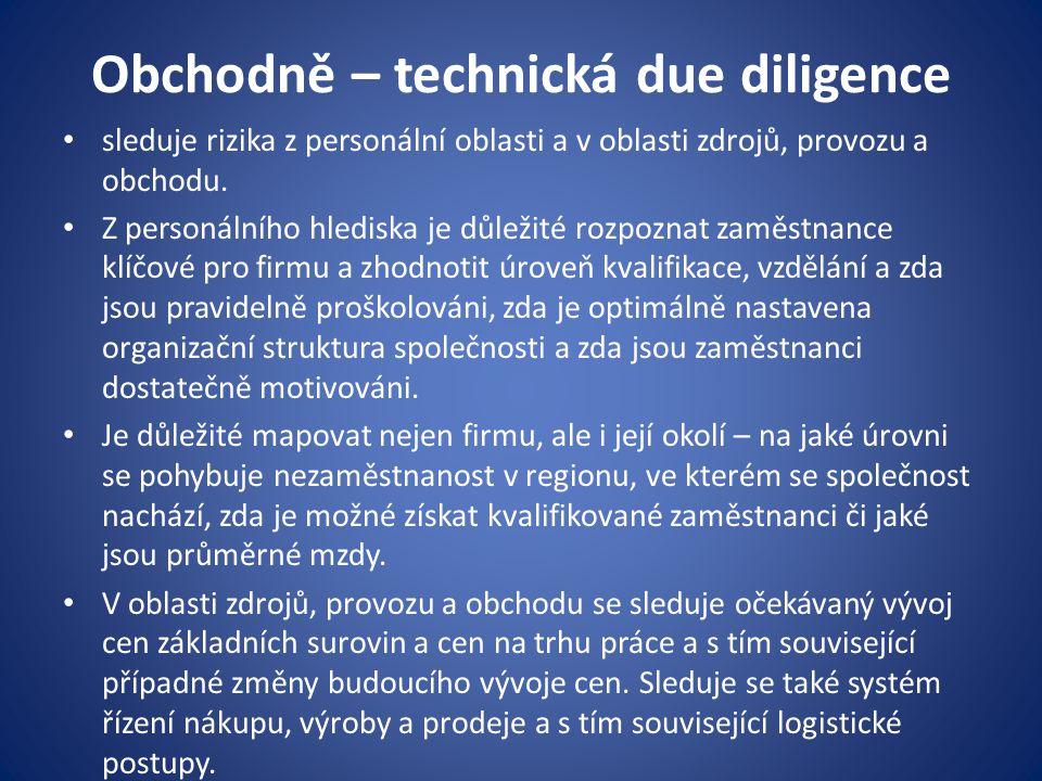 Obchodně – technická due diligence