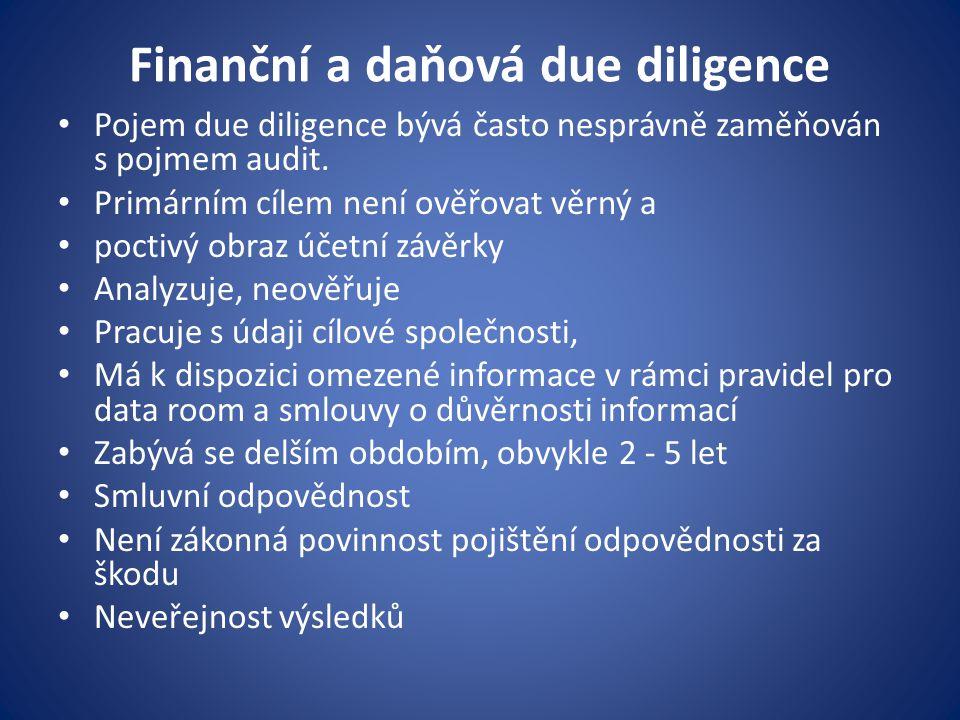 Finanční a daňová due diligence