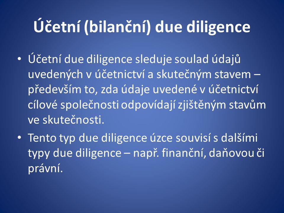 Účetní (bilanční) due diligence