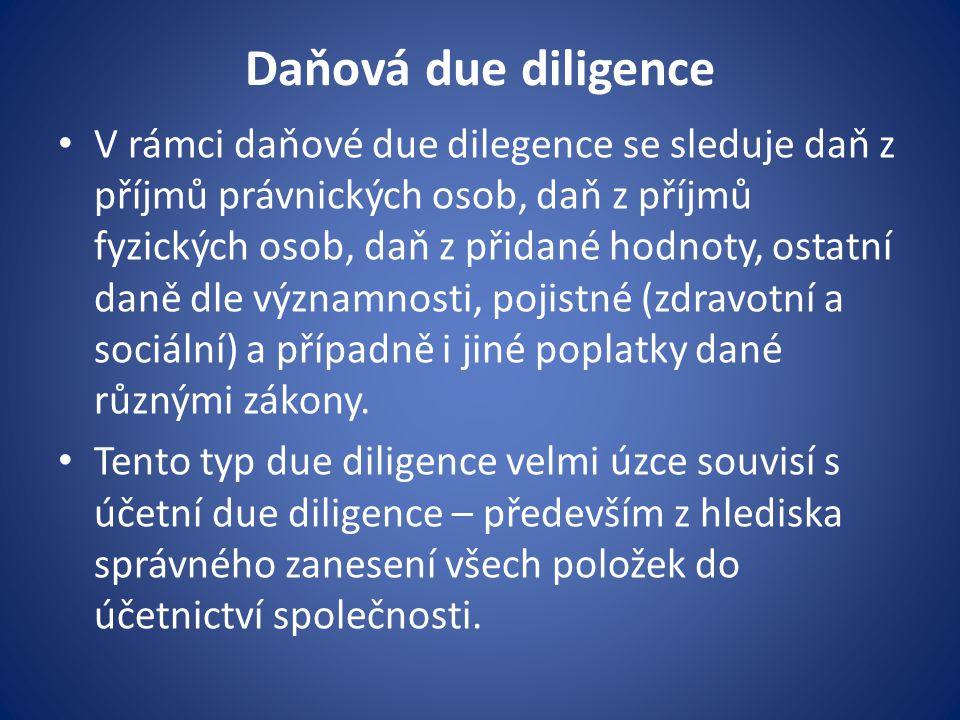 Daňová due diligence