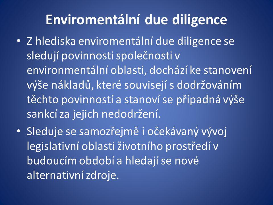 Enviromentální due diligence