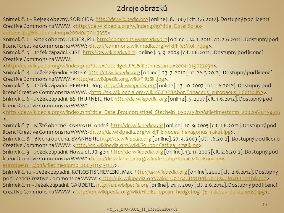 VY_32_INOVACE_11_HMYZOŽRAVCI