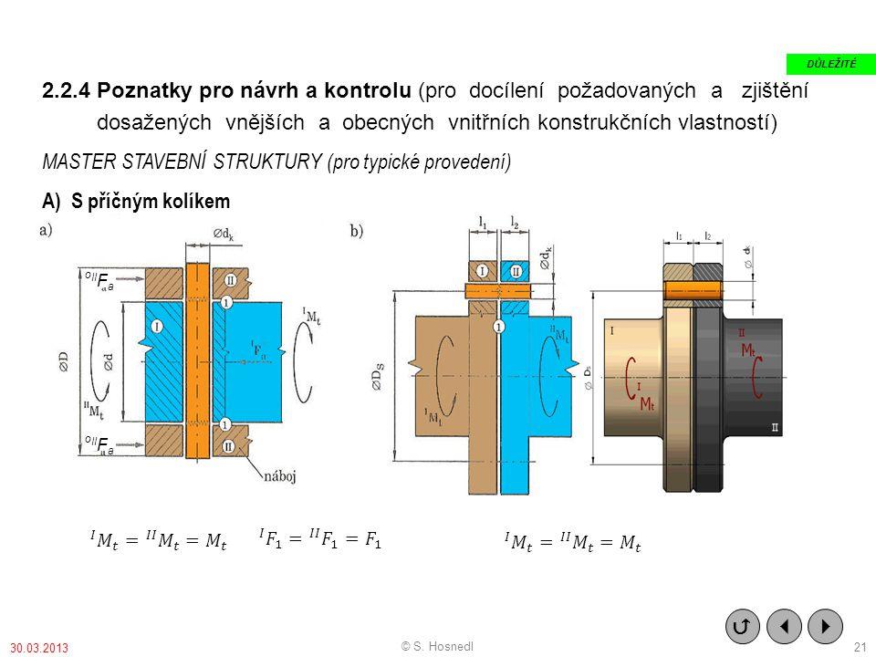 dosažených vnějších a obecných vnitřních konstrukčních vlastností)