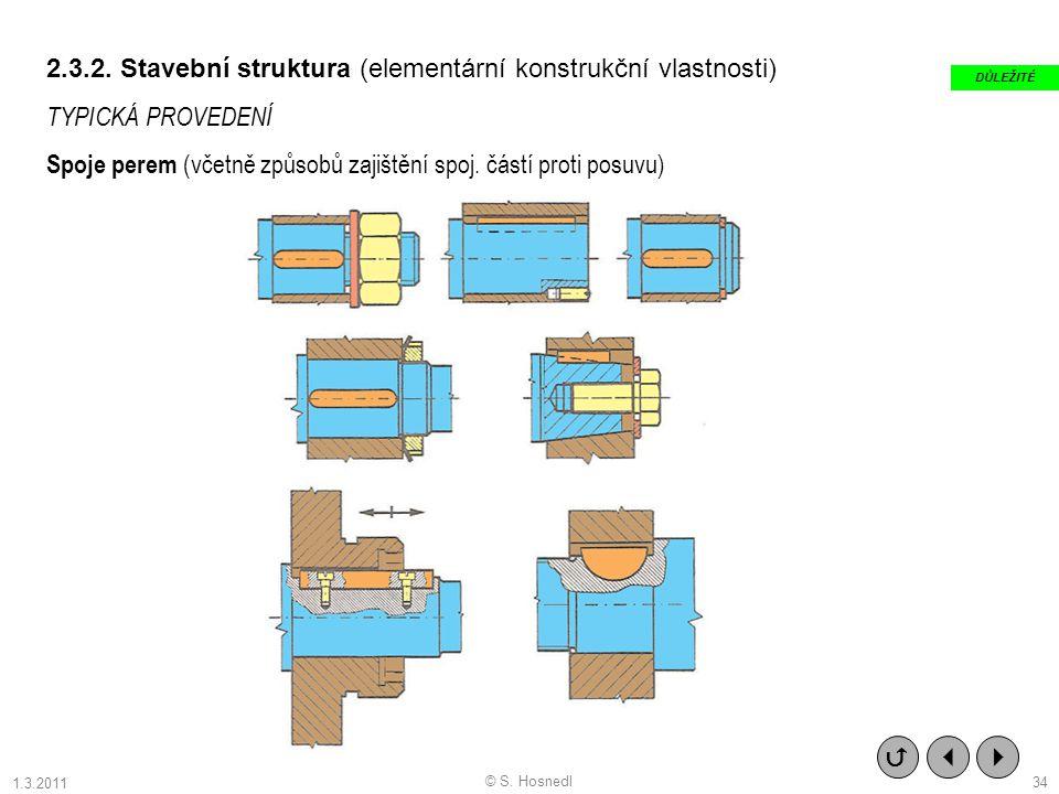 2.3.2. Stavební struktura (elementární konstrukční vlastnosti)