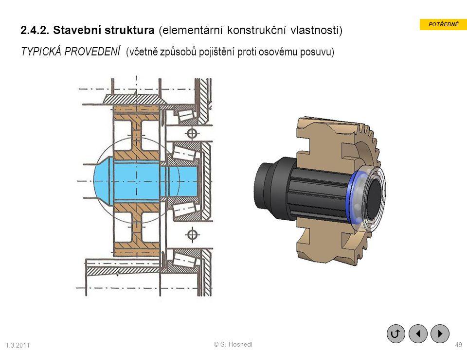 2.4.2. Stavební struktura (elementární konstrukční vlastnosti)