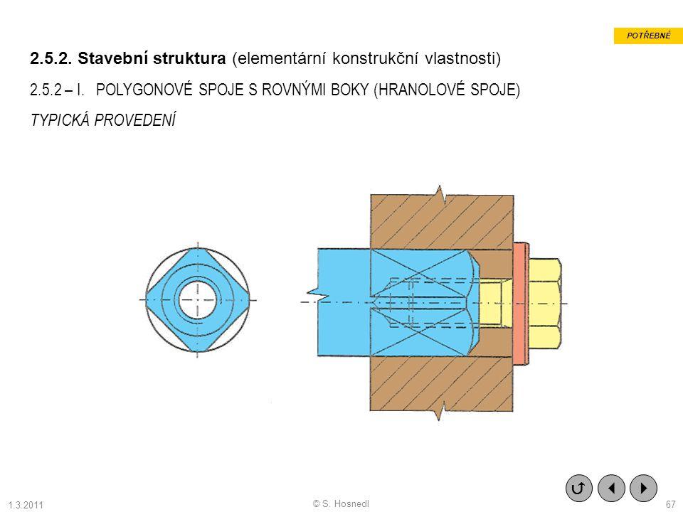 2.5.2. Stavební struktura (elementární konstrukční vlastnosti)