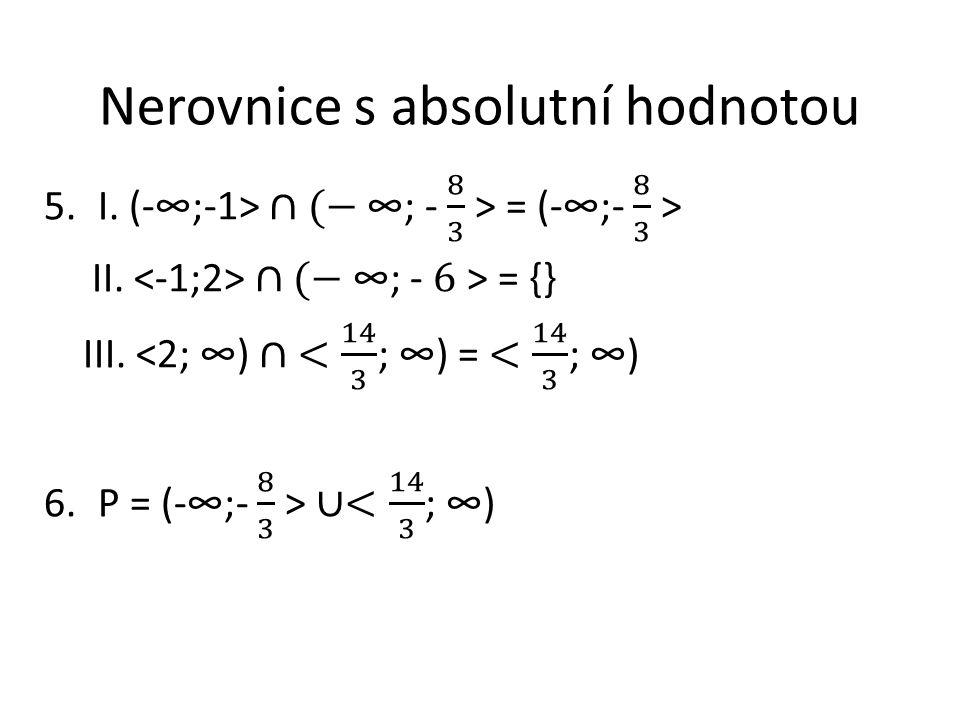 Nerovnice s absolutní hodnotou