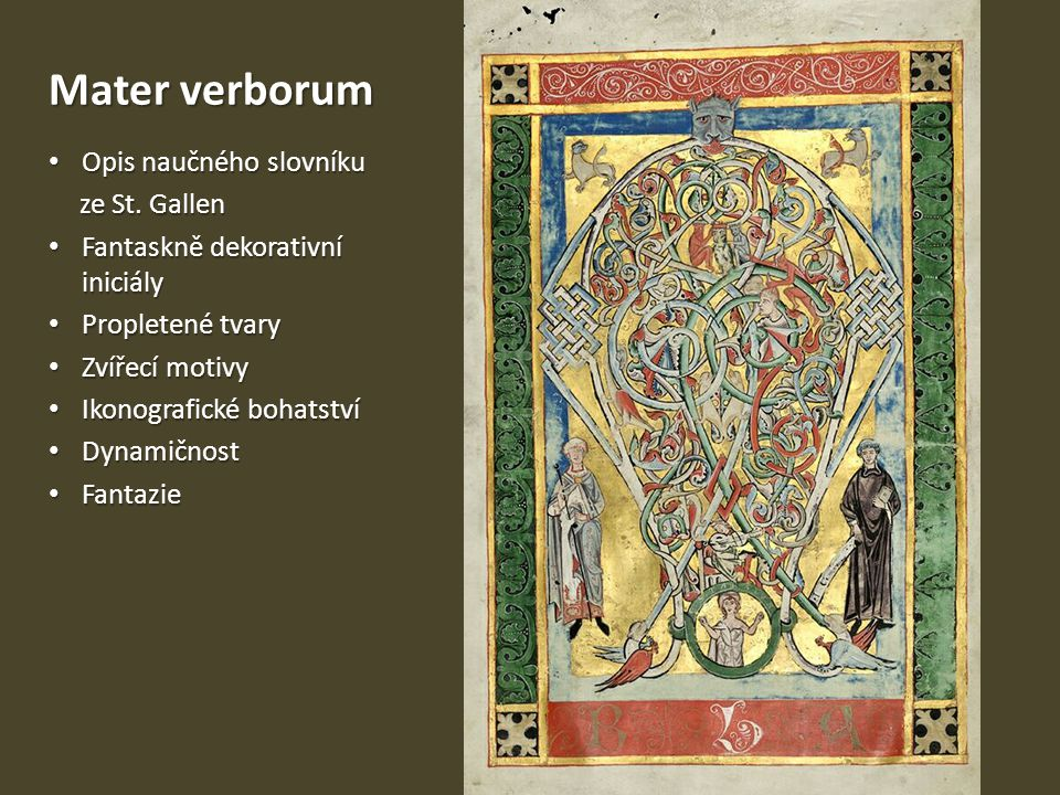 Mater verborum Opis naučného slovníku ze St. Gallen