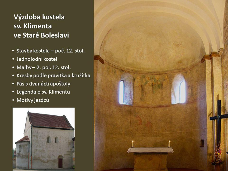 Výzdoba kostela sv. Klimenta ve Staré Boleslavi