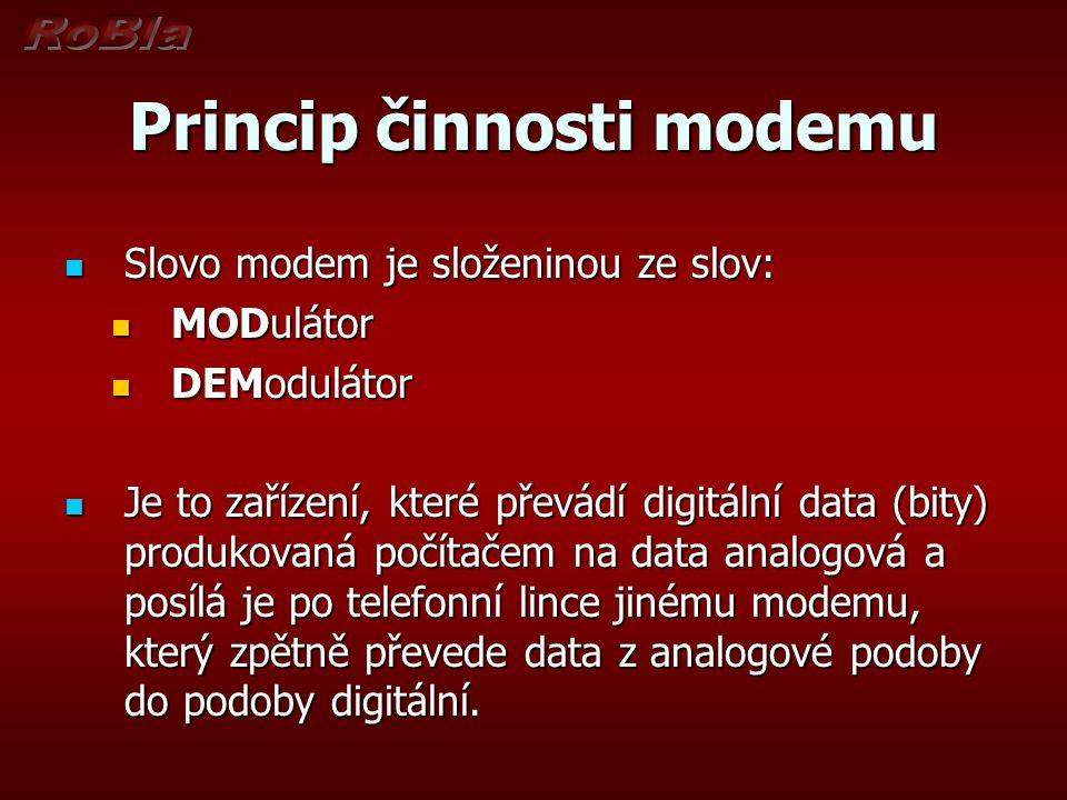 Princip činnosti modemu