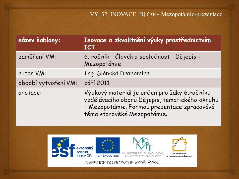 VY_32_INOVACE_Dj.6.04- Mezopotámie-prezentace