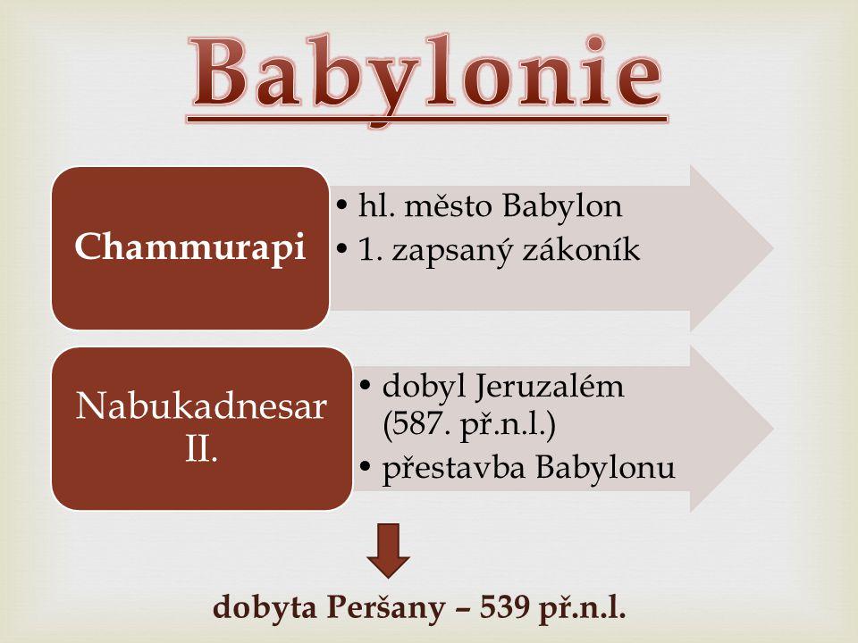 Babylonie Chammurapi Nabukadnesar II. hl. město Babylon